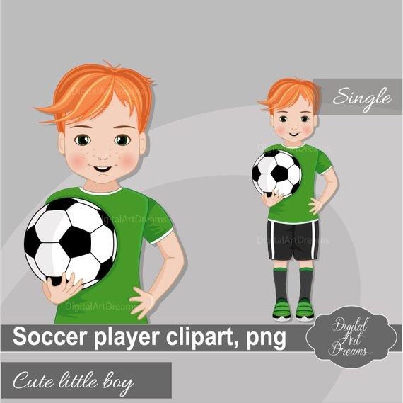 Soccer Ball Clipart Little Boy Clip Art Soccer Player Etsy In 2020 School Illustration Clip Art Football Party Invitations