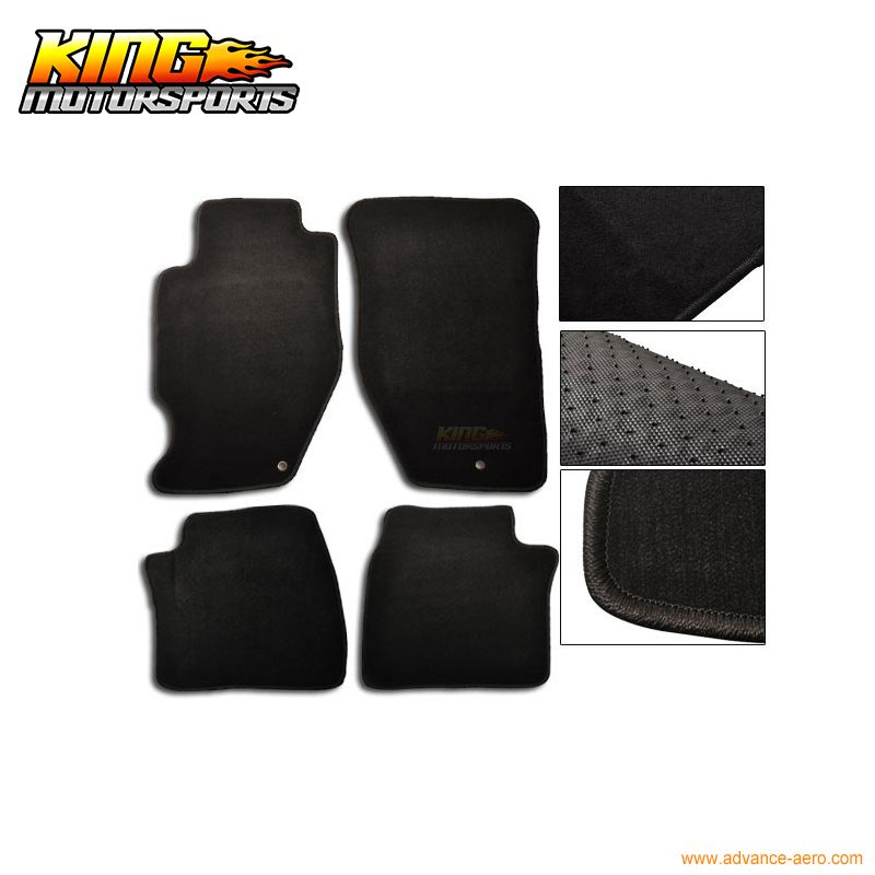 For Acura TL Dr Floor Mats Carpet Front Rear Nylon Black - 2006 acura tl floor mats