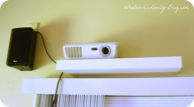 diy home theater, home decor, Projector mounted on a shelf   Daily ...