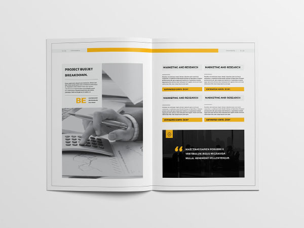 Free Proposal Print Template Design Download Print templates