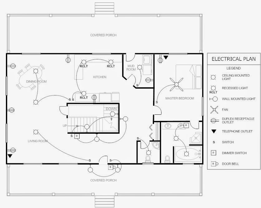 House electrical plan electrical engineering world Electrical floor plan software