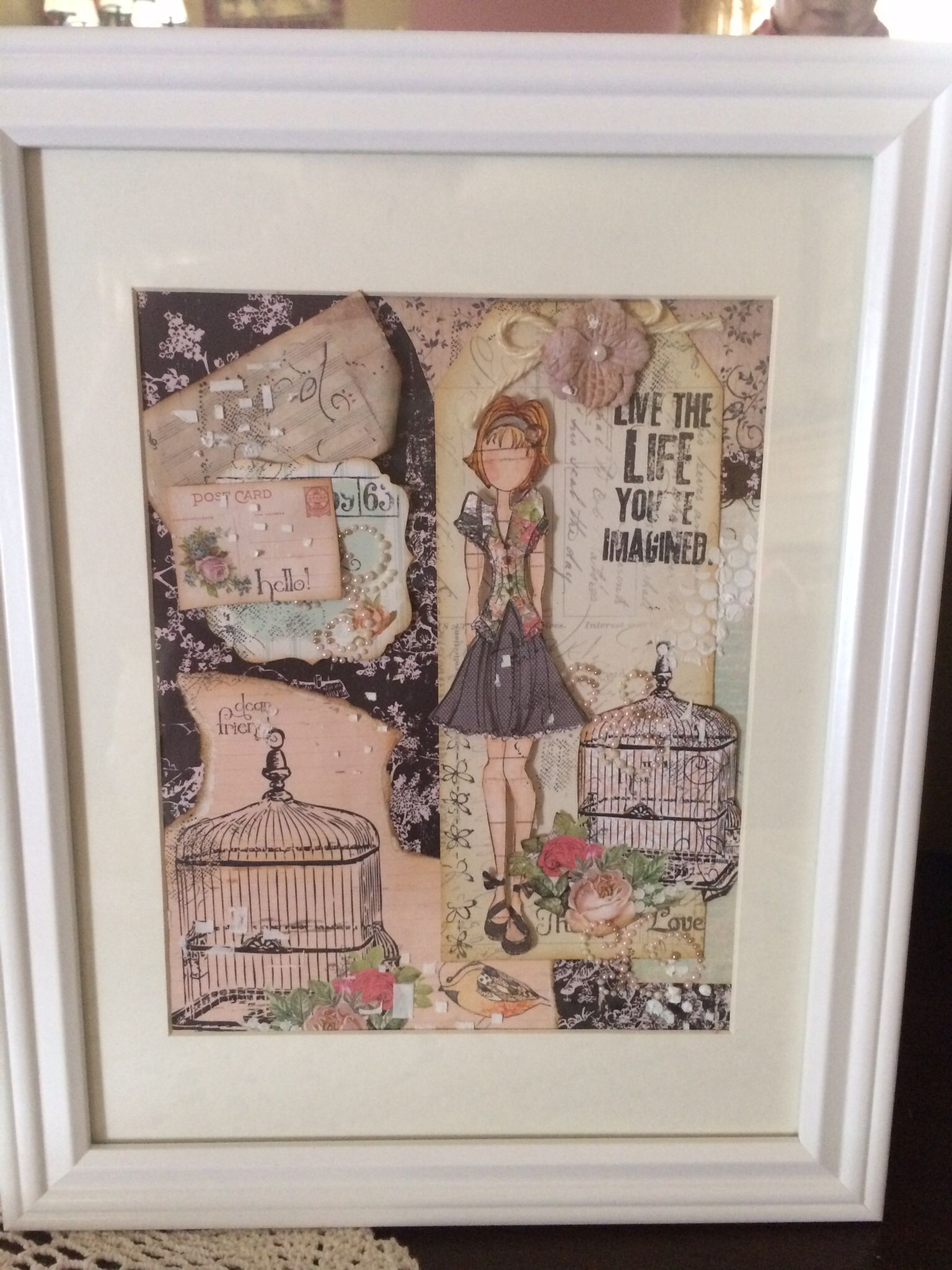 Collage and mixed media Dolls