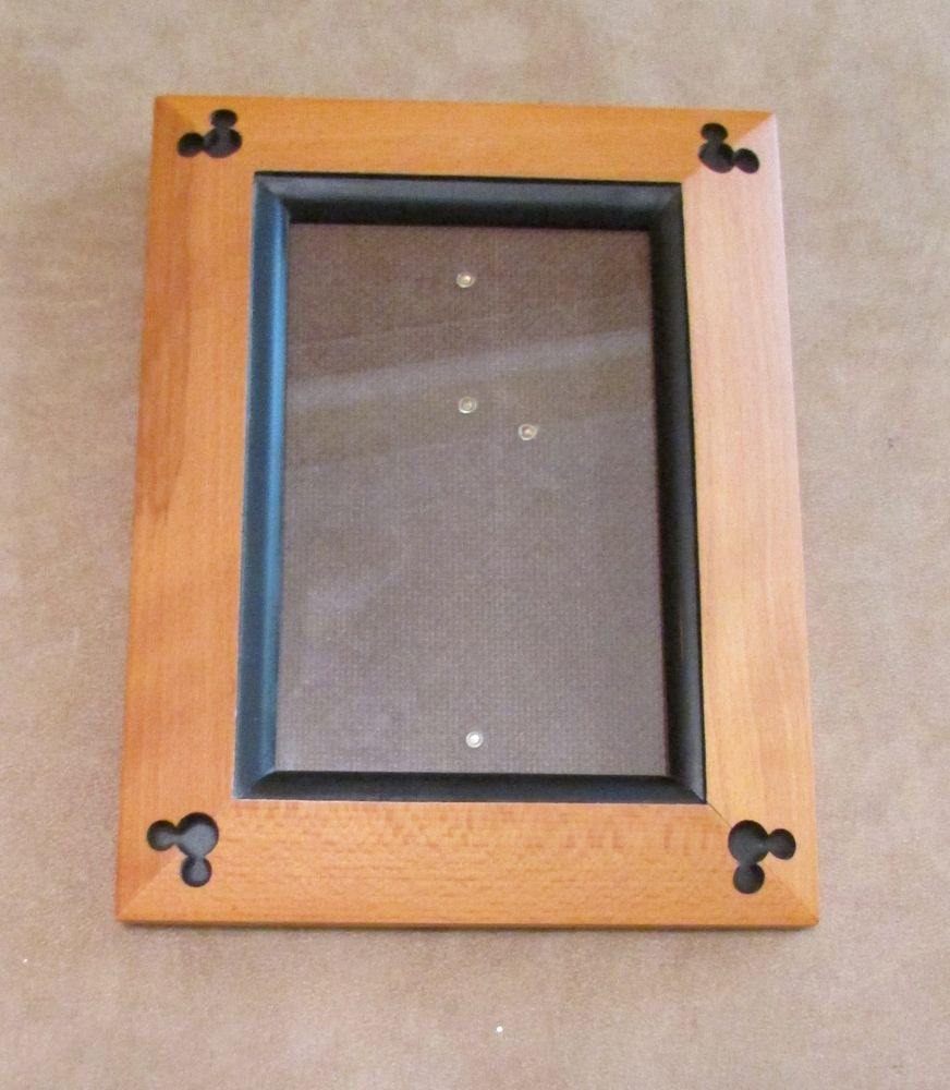 Mickey Mouse ear wooden picture frame 4x6 Walt Disney World park ...