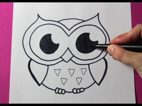 How To Draw An Owl Cómo Dibujar Un Buho Easy Facil Crafts