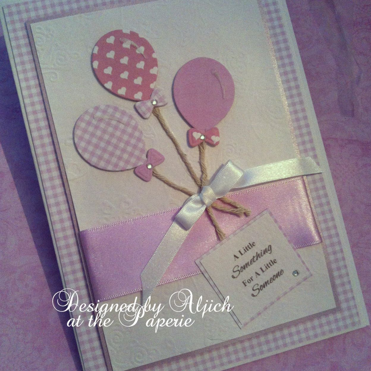 Birthday Card Daughter New Baby Girl Granddaughter Personalized Handmade By Thelavenderblue On Etsy