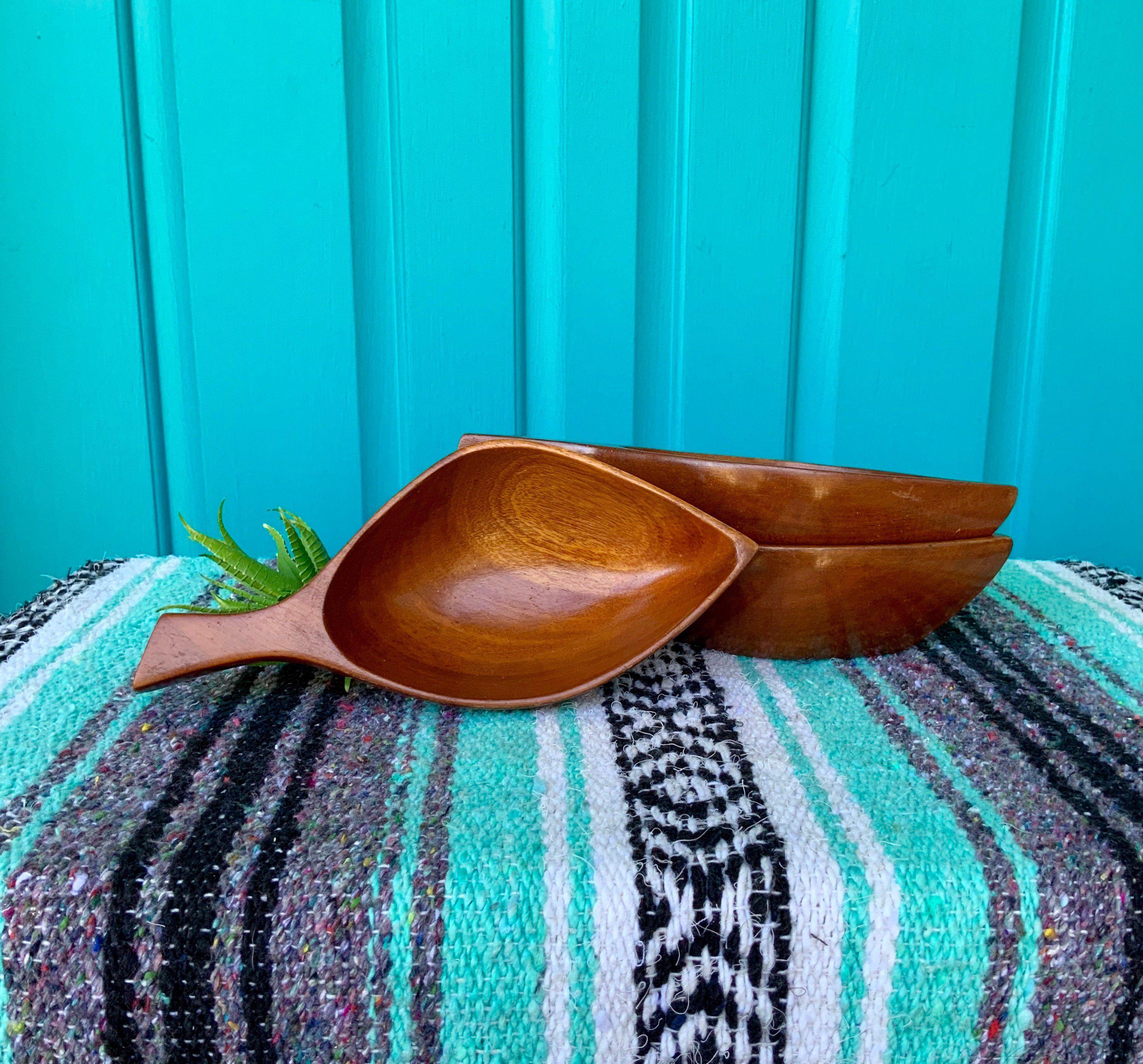 """FREE SHIPPING-Vintage """"Set of 3"""" MCM Monkey Pod Leaf Bowls-Abstract Leaf Sha... -  FREE SHIPPING-Vintage """"Set of 3"""" MCM Monkey Pod Leaf Bowls-Abstract Leaf Shape-Mid Century-Bohe - #bohemianTropicalDecor #BowlsAbstract #coastalTropicalDecor #colorfulTropicalDecor #free #Leaf #MCM #Monkey #Pod #set #Sha #SHIPPINGVintage #TropicalDecorideas #TropicalDecorkitchen"""