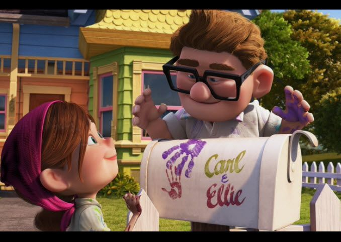 carl ellie s mail box in the movie up my inspiration for my candy