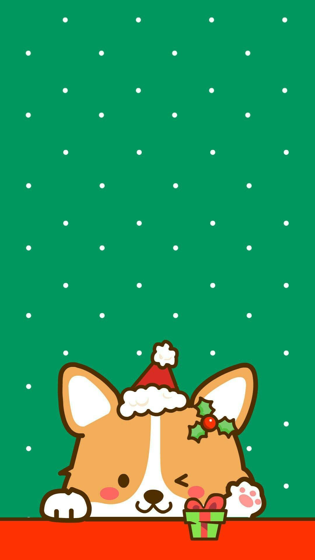 Pin By May Min On Backgrounds Corgi Wallpaper Cute Christmas Wallpaper Corgi Art