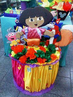 Pi atas de dora la exploradora para fiestas infantiles for Decoracion de pinatas infantiles