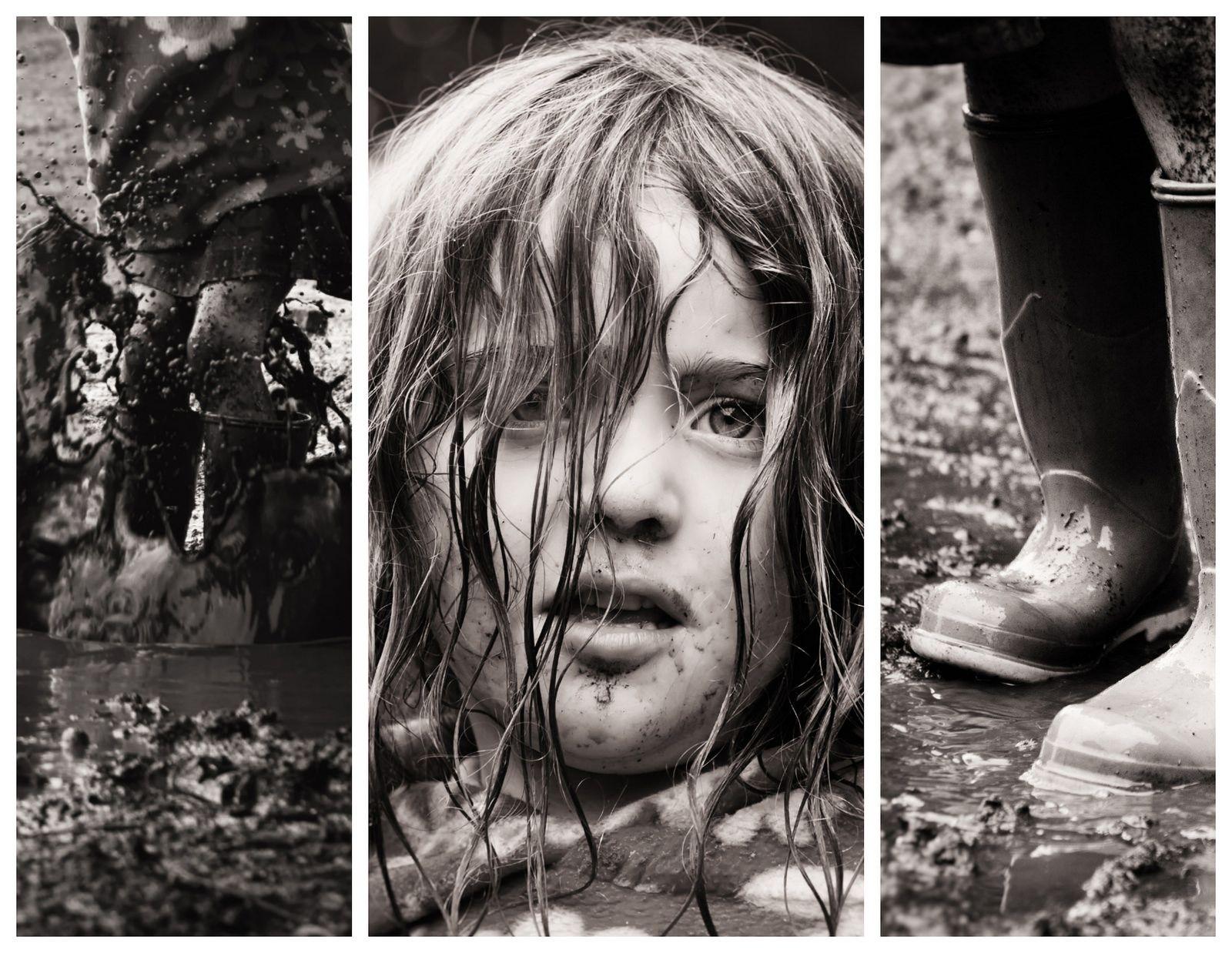 Mud Splash Triptych