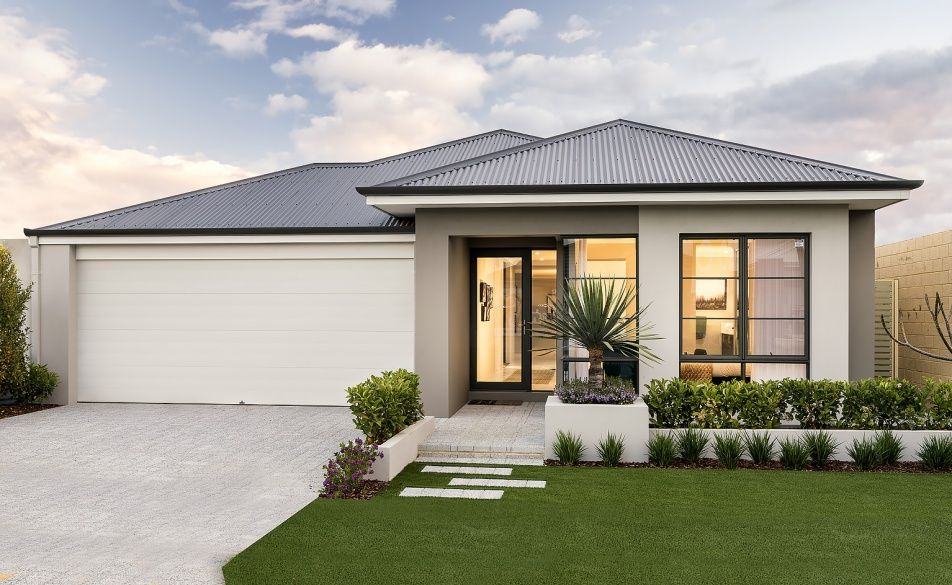 Ultra Modern Rendered Elevation With Stylish Windows And