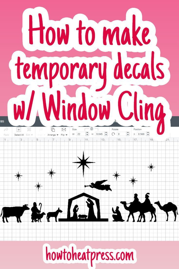 Cricut Window Cling - Make Temporary Window Decals #cricutvinylprojects