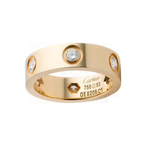 Cartier LOVE Ring Yellow Gold 6 Diamonds Cartier love