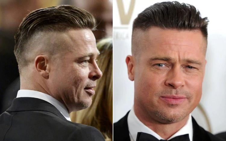 Brat Pitt Mit Seiner Frisur Aus Dem Film Fury Character