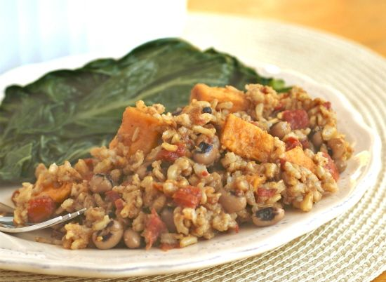 Pelau--a fragrant, delicious take on classic rice and beans, West Indian style