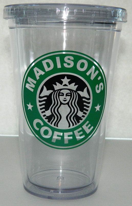 Starbucks Inspired Personalized Coffee Cup by JackandLuJustForYou