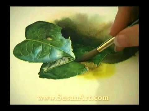 """http://www.susanart.com/1-on-1 New Zealand watercolor artist Susan Harrison-Tustain demonstrates her watercolor techniques. This painting lesson is from her highly popular 2-disc DVD set """"One-on-One Watercolor Workshops"""". For a free half-hour video watercolor lesson with Susan visit http://www.susanart.com/free and also receive her great wat..."""
