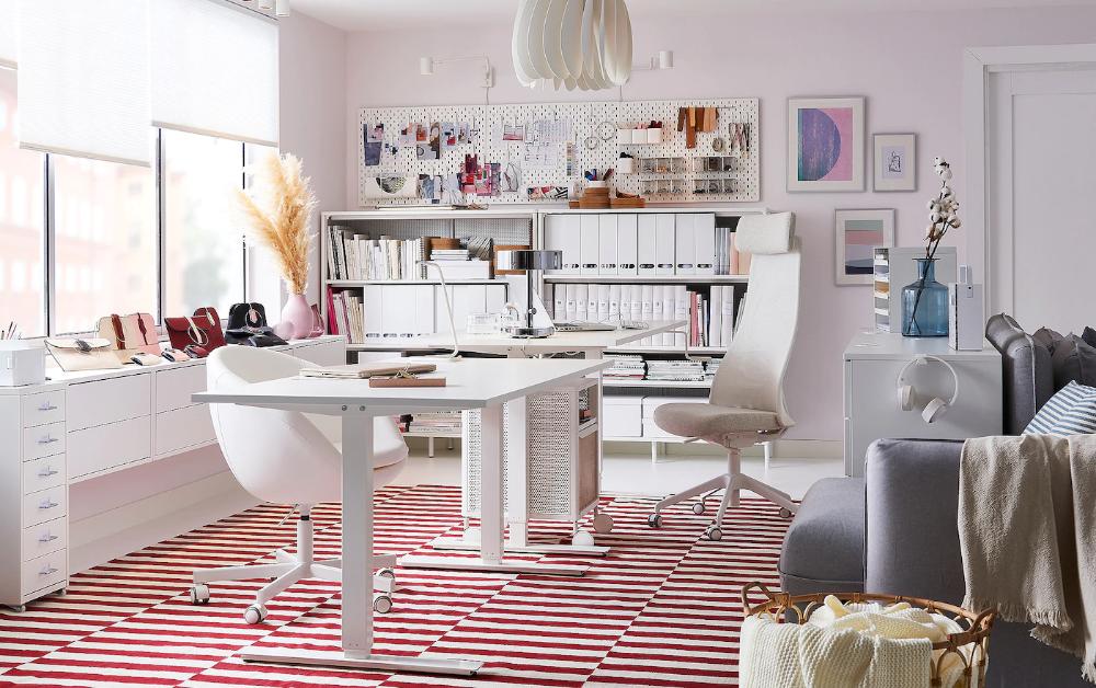 Un Bureau Fonctionnel Flexible Et Tres Tendance Bureau A Domicile Maison Ikea Meuble A Tiroir