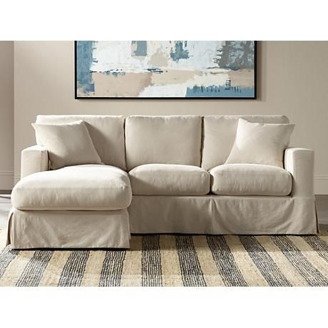Excellent Annalisse Left Hand Facing 2 Pc Slipcover Chaise Sectional Inzonedesignstudio Interior Chair Design Inzonedesignstudiocom