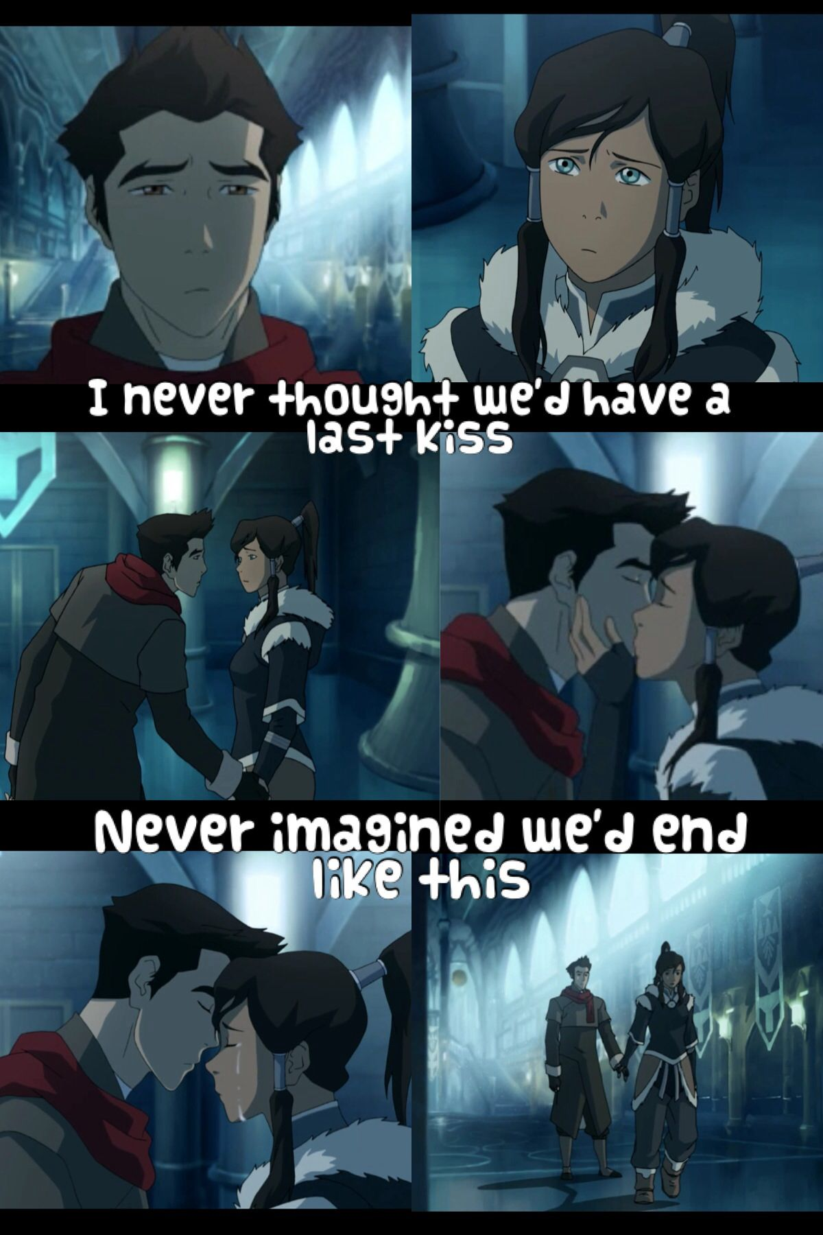 I first thought of this song applying to Mako and Asami's breakup … and then this happened.