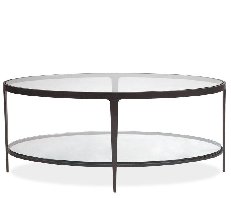 Clooney Oval Coffee Table - Constructed of welded hot ...