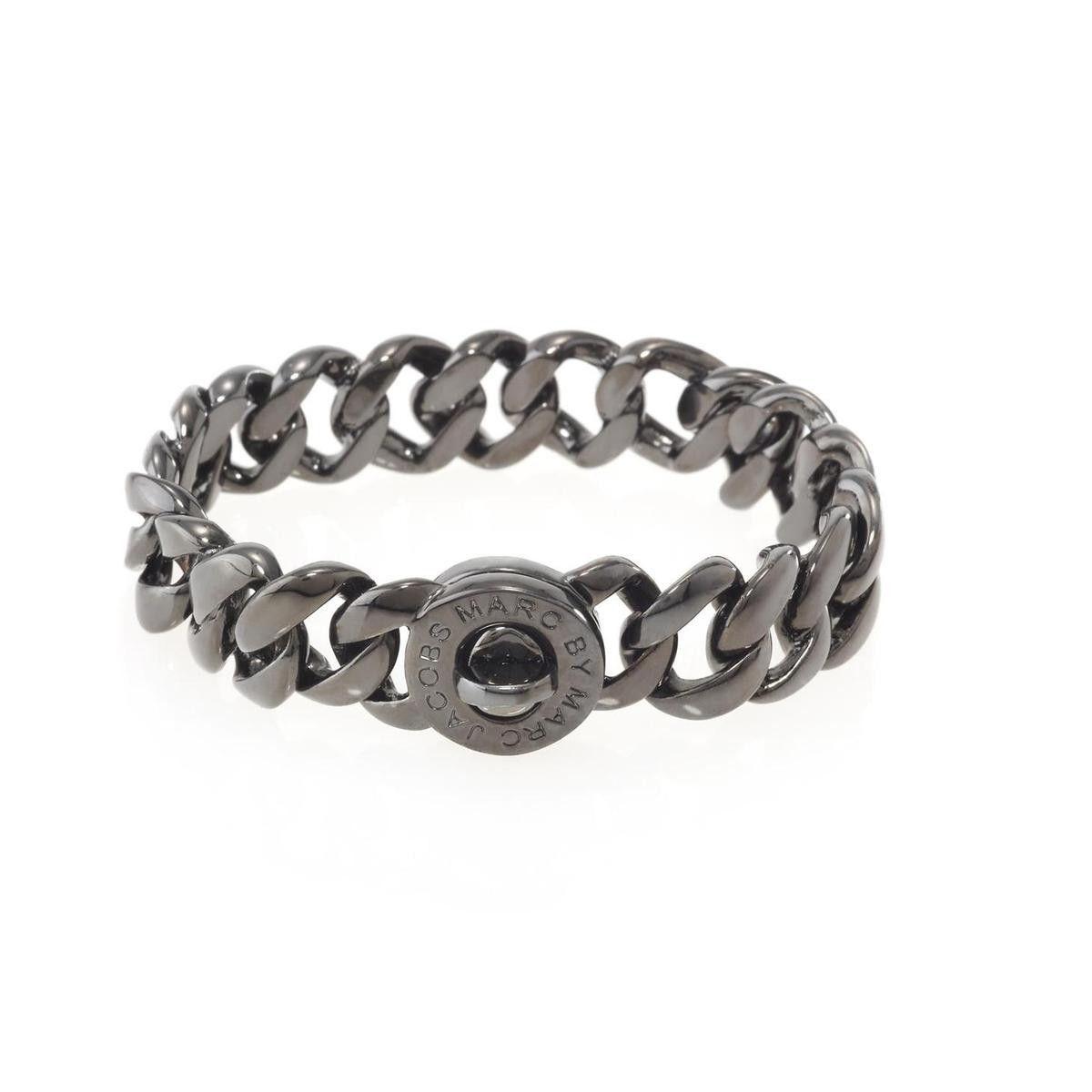 Marc by Marc Jacobs Womens Katie Brass Turnlock Bracelet