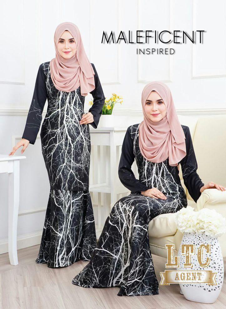 Kurung Maleficient Inspired In 2021 Hijab Fashion Fashion Clothes