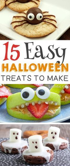15 Super Cute Halloween Treats To Make For Kids and Adults - Easy - how to make homemade halloween decorations for kids