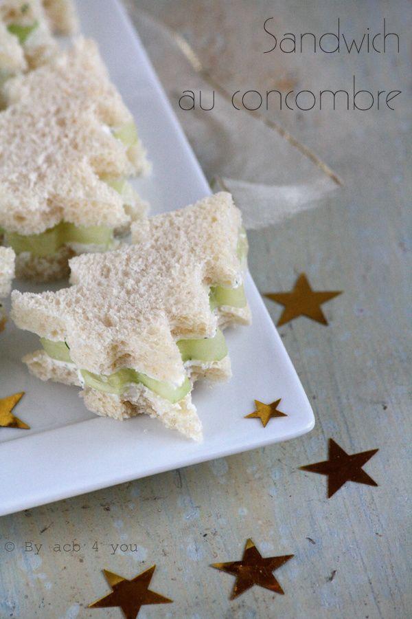 Sandwich au concombre pour un apéritif festif