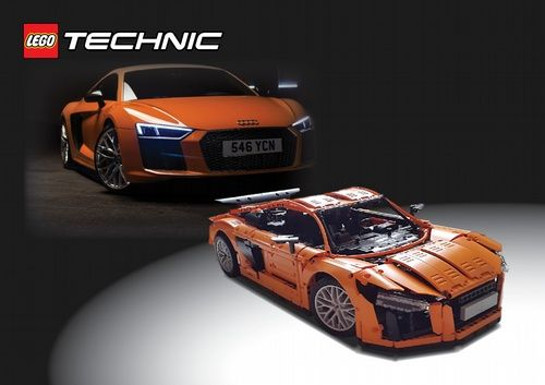 lego technic audi r8 v10 2017 a lego creation by. Black Bedroom Furniture Sets. Home Design Ideas