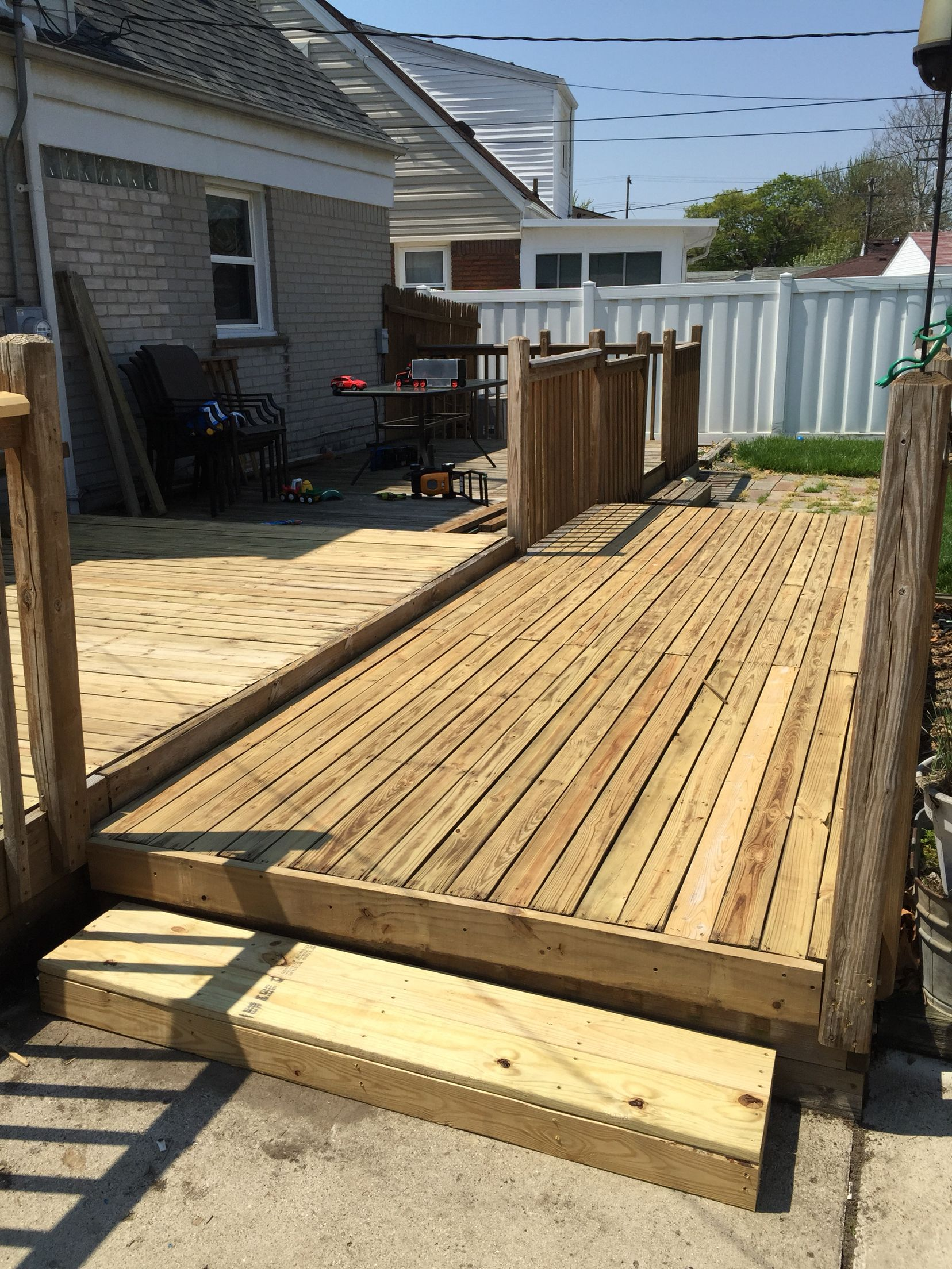 Flipping board and sanding deck paint new deck outdoor