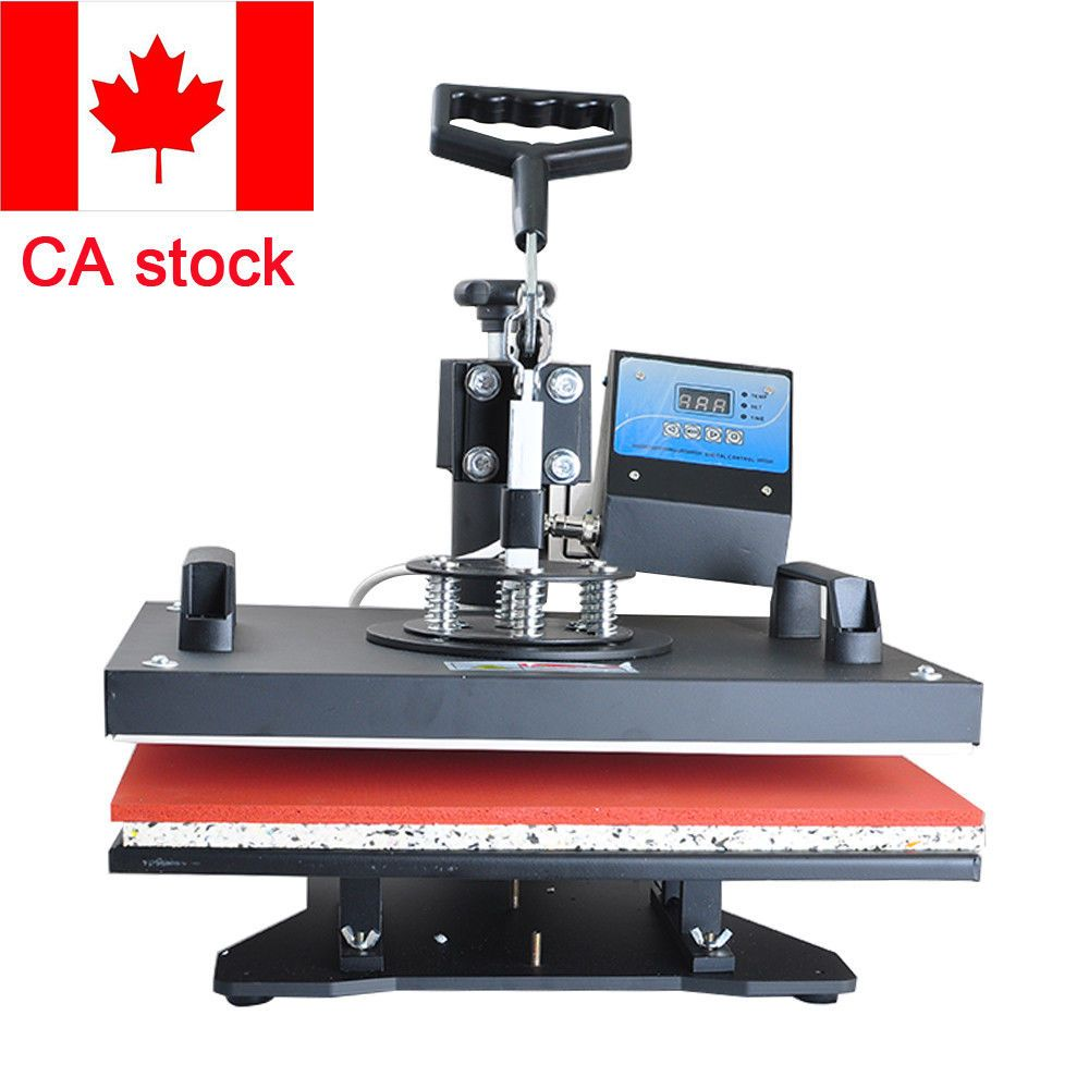Sublimation Press 1250w 8in1 Heat Press Machine Digital T Shirt Hat Cap Transfer