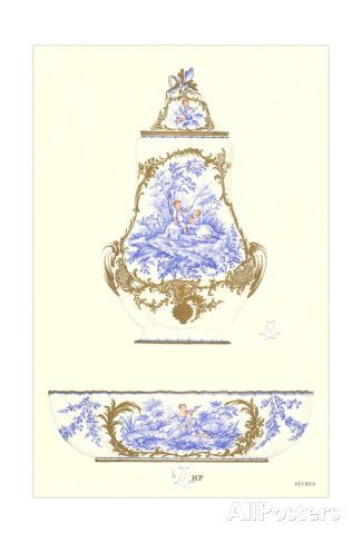   Sevres Porcelain Urn and Bowl Stampe su AllPosters.it