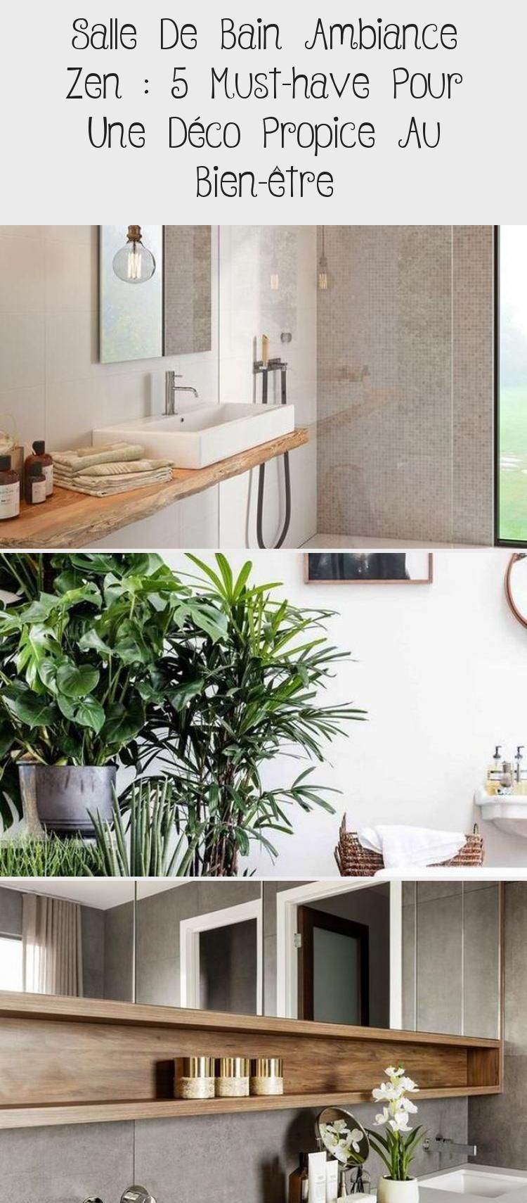 Salle De Bain Ambiance Zen 5 Indispensables Clem Around The Corner Meuble De Salle De Bain Double Lavabo Vasques Blanches Petite Etagere De In 2020 Plants Bathroom