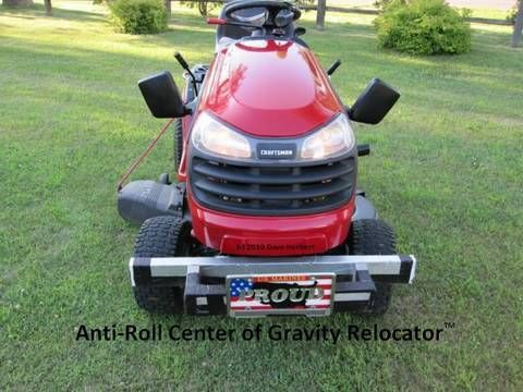 My 10 Lawn Tractor Modifications Including A Center Of Gravity Re Locator Lawn Tractor Lawn Mower Repair Tractors