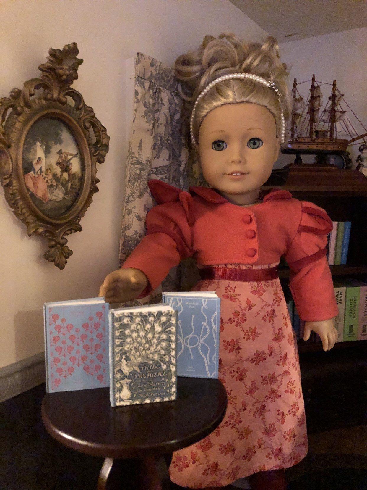 13 scale jane austens trio doll sized mini book for