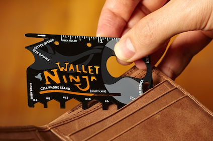 Wallet Ninja 16-in-1 Multitool just $9.99 on Groupon! (Reg Price $40) - TrueCouponing