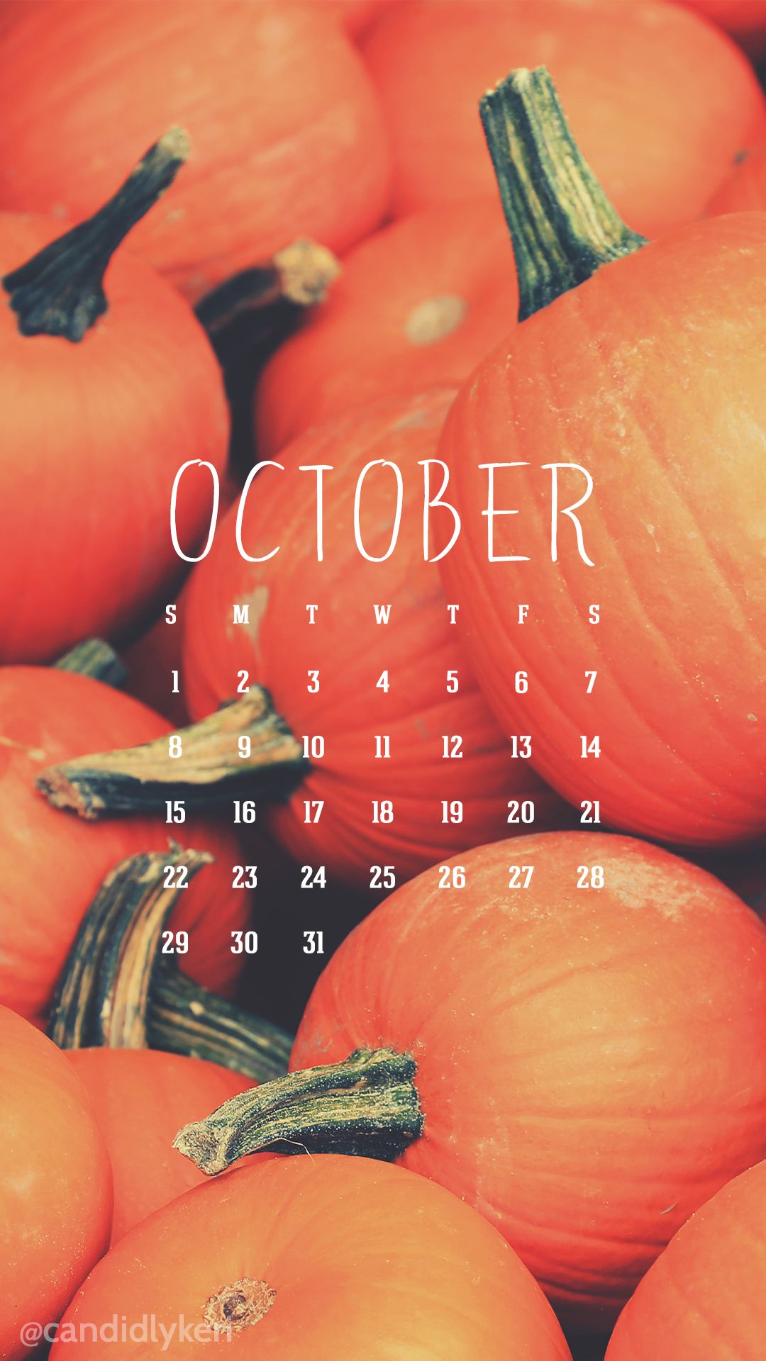 orange pumpkin fall October calendar 2017 wallpaper you