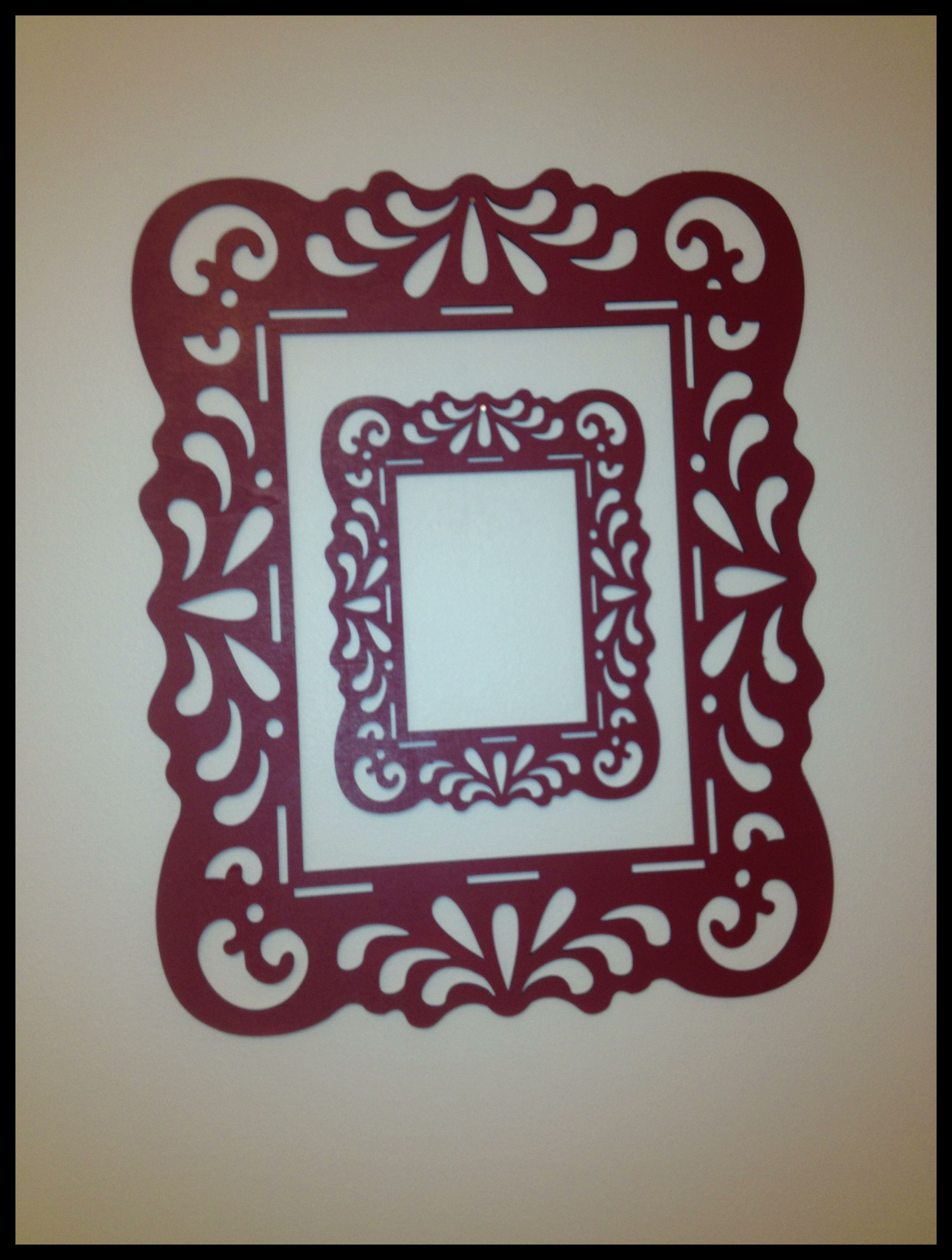 Easy DIY wall art! Take any decorative wooden frame from any craft ...