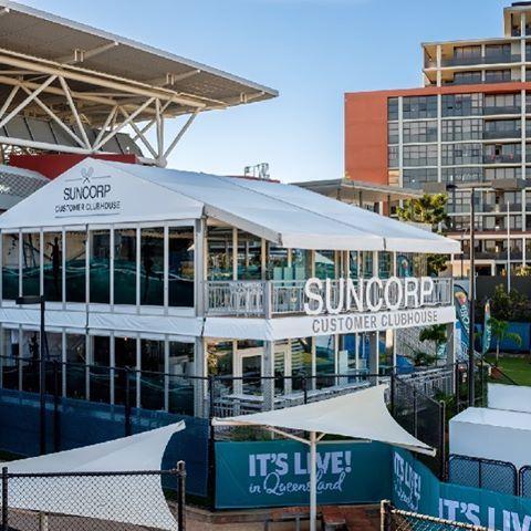 Brisbane international & Double Storey Marquee for Brisbane International Tennis by Moreton ...
