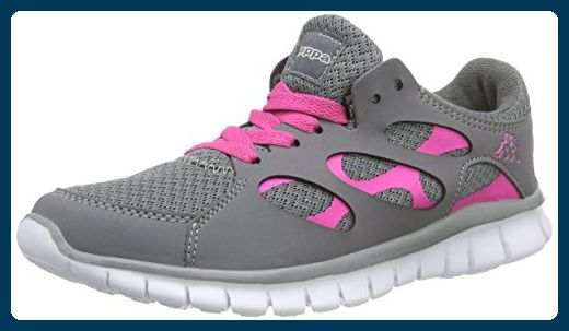 Kappa Fox Light Footwear Unisex, Synthetic/Mesh, Sneakers Basses Femme - Gris - Grau (1627 Grey/l'pink), 42