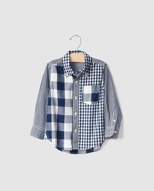 a64e687c3 Camisa de niño Gap con cuadros bicolor | FASHION IDEAS | Camisas ...