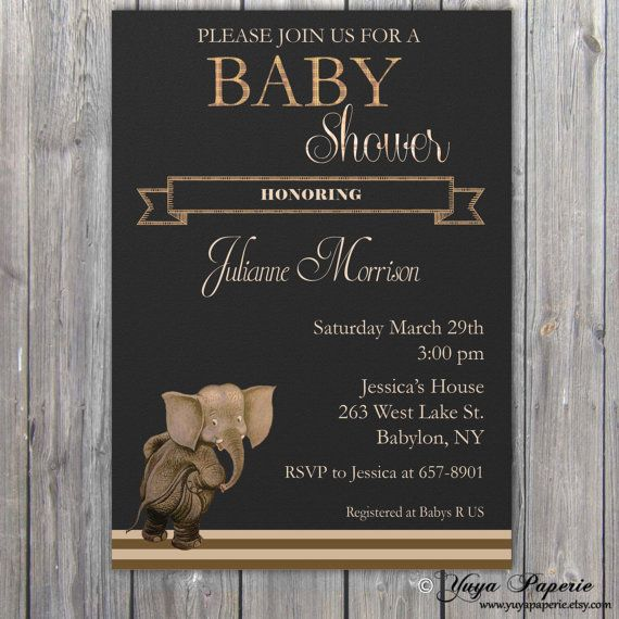Safari Baby Shower Invitation Neutral Invitation by YuyaPaperie, $14.95
