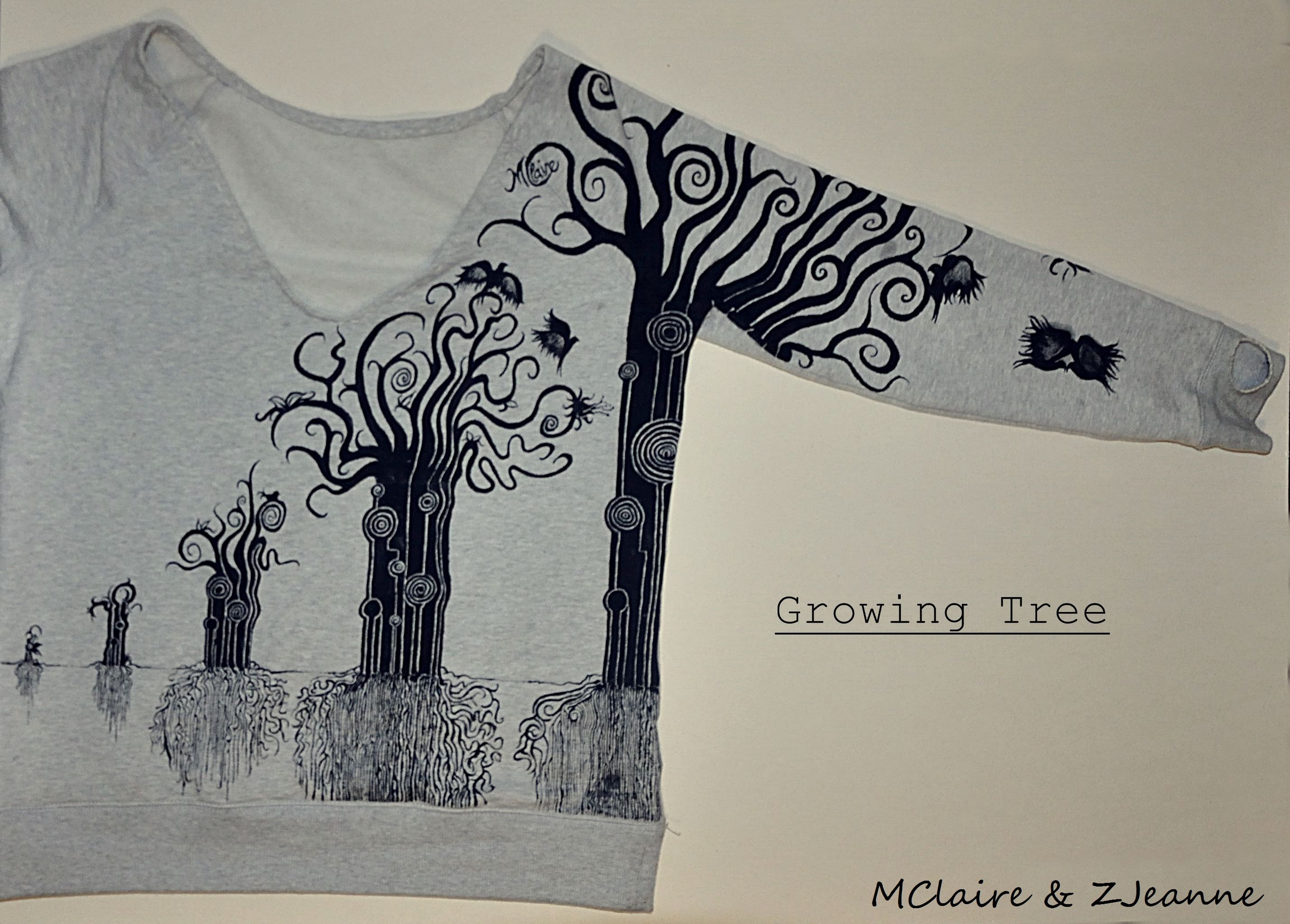 Handmade Sweatshirt #handmade #sweatshirt #Hobby #faidate #grow #growing #tree #nature #forceofnature #art  #clothes #design #identity #life #unic