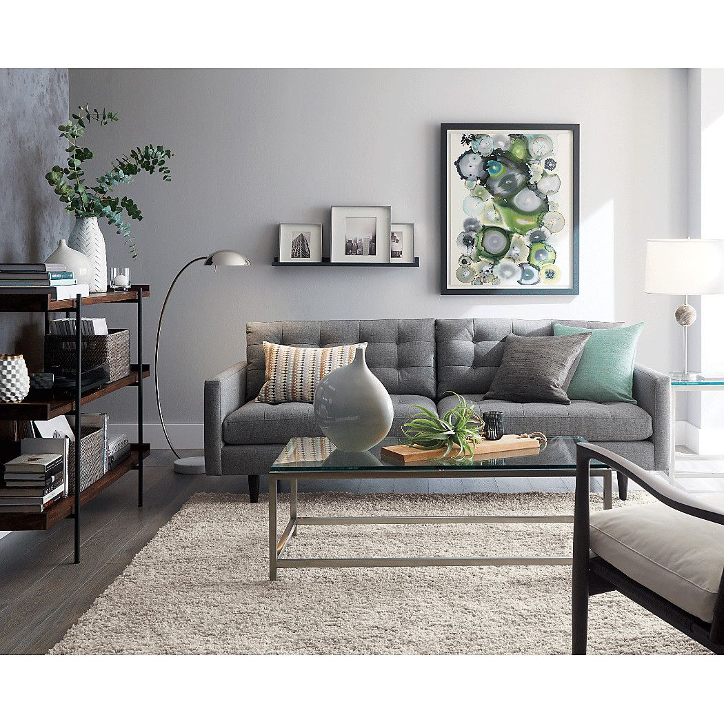 Petrie Mid-Century Sofa + Reviews | Crate and Barrel in ...