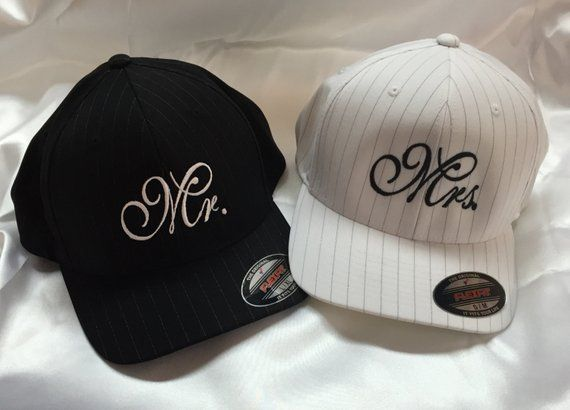 Bride and Groom Embroidered Baseball Caps for Honeymoon Beanie Bliss Matching Mr and Mrs Hats