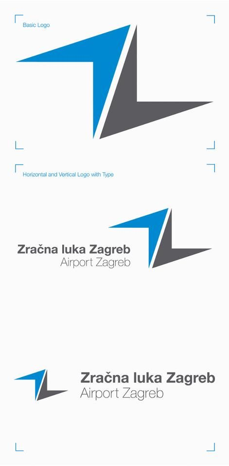 Airport Zagreb Visual identity Concept (by Ivorin Vrkas).   Project involving the full redesign of the Airport Zagreb visual identity and signage system.   Original can be seen on http://www.zagreb-airport.hr/