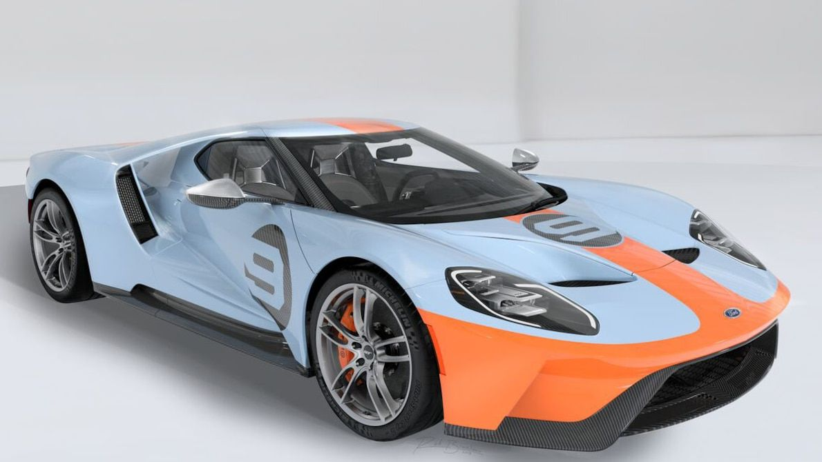 2019 Ford Gt Heritage Edition Wears Famed Gulf Livery Ford Gt Ford Gt Gulf 2019 Ford
