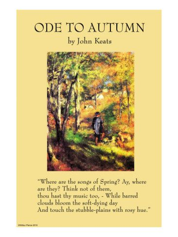 ode to autumn essays It is, apparently, the most anthologised english poem and if critical essays were apples, and the poem a tree, john keats's ode, to autumn, would have toppled by now under the mass of its.