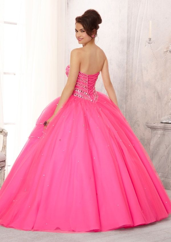 88082 Quinceanera Gowns 88082 Jewel Beaded Bodice on a Tulle Ball ...